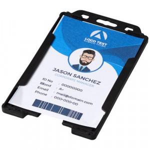 Pierre transparent badge holder