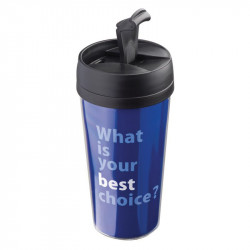 Thermo mug with paper inlay