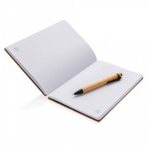 A5 Bamboo notebook & pen set