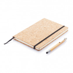 A5 notebook with bamboo pen including stylus