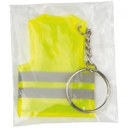Key fob in the shape of a vest