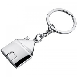 Metal keyring in house shape