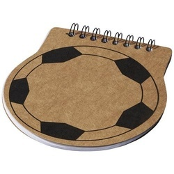 Score football shaped notebook