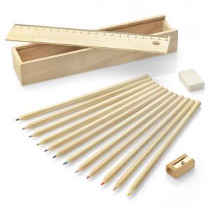 Wooden box with colour pencils 12 pcs KRASI