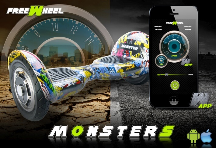 Hoverboard Freewheel Monster Smart