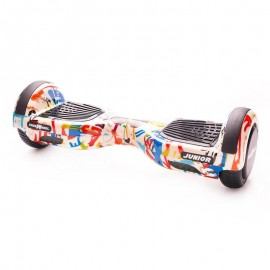 Poze Hoverboard Freewheel Junior Graffiti Alb