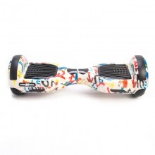 Hoverboard Freewheel F1 Graffiti Alb