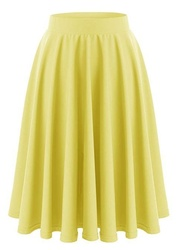 Women's Retro Style Basic Skirt Stretchy