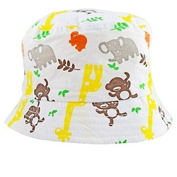 Baby Summer Sun Hat Safari Animal Print