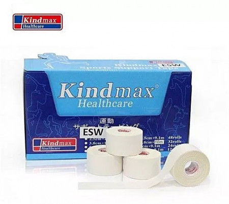 Спорт тейп Kindmax ESW38 (Цинк оксид) 3.8см.