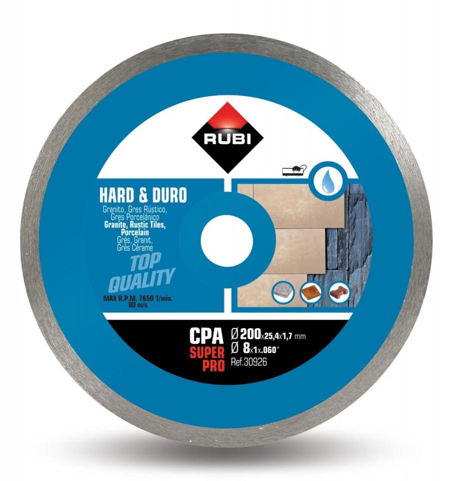Disc diamantat pt. materiale foarte dure 200mm, CPA 200 SuperPro - RUBI-30926 imagine criano.com