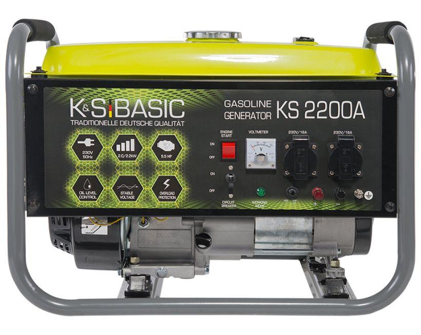 Generator de curent 2.2 kW benzina BASIC LINE - Konner & Sohnen - KSB-2200A( 511261)