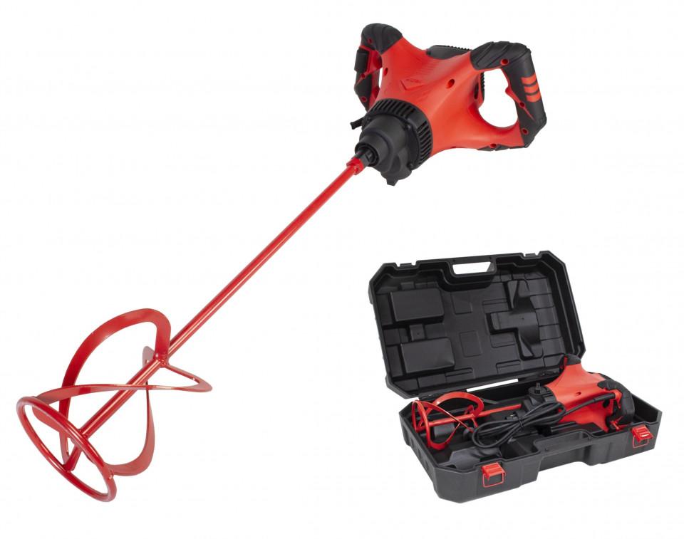 Mixer / amestecator pt. adezivi / mortar 1800W, Profesional, RUBIMIX-9 SUPERTORQUE 230V 50-60 Hz. cu valiza de transport - RUBI-26974 imagine criano.com
