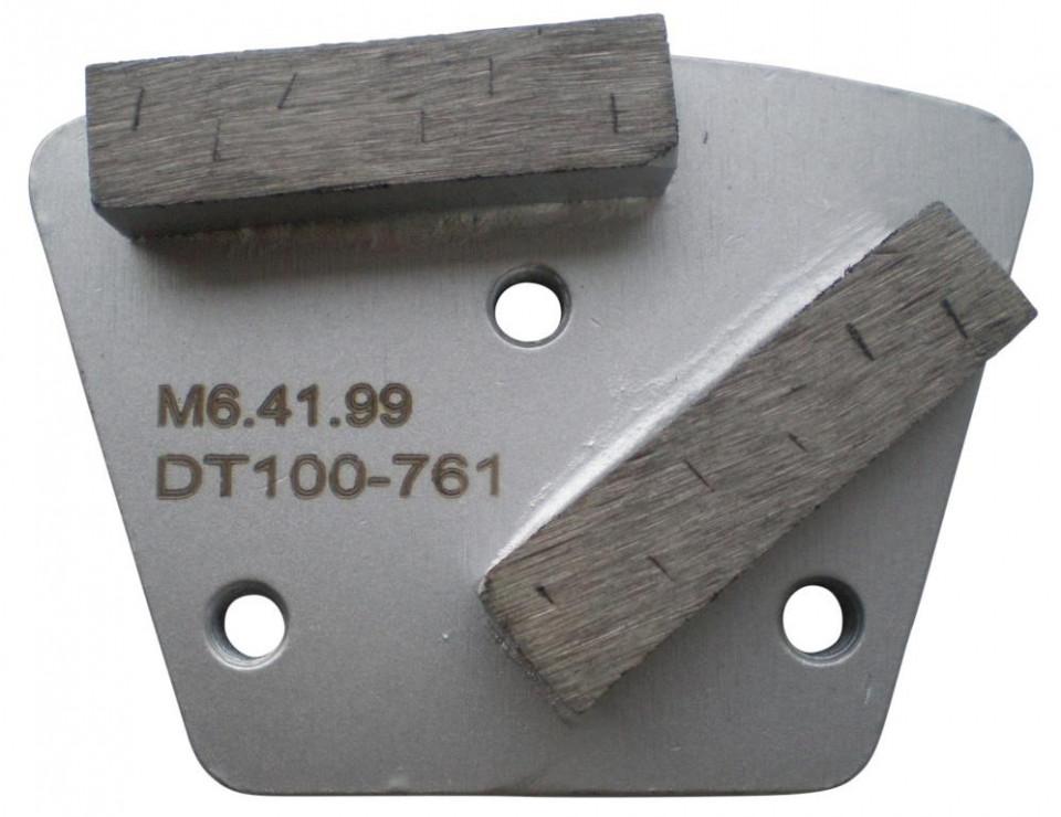 Placa cu segmenti diamantati pt. slefuire pardoseli - segment DPC dual - prindere M6 - DXDH.8506.41.99 title=Placa cu segmenti diamantati pt. slefuire pardoseli - segment DPC dual - prindere M6 - DXDH.8506.41.99