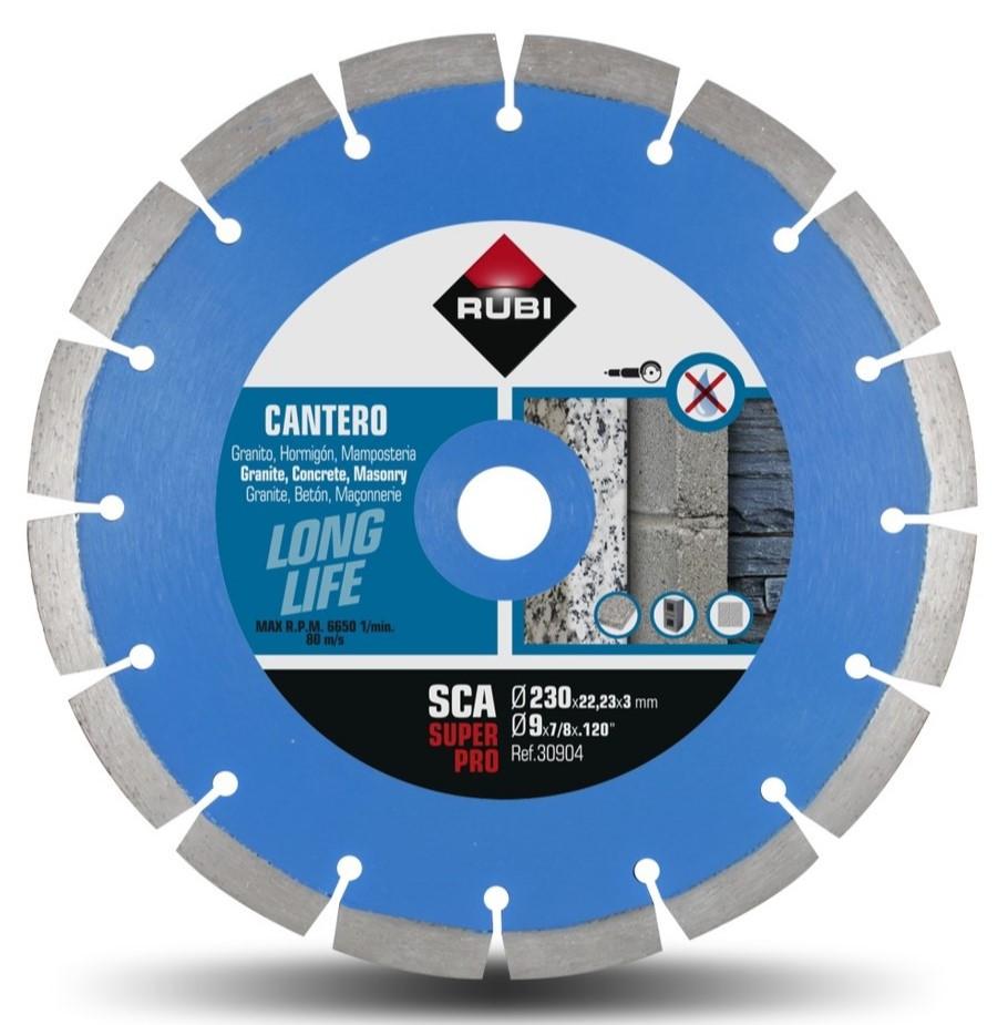 Disc diamantat pt. materiale de constructii 230mm, SCA 230 Super Pro - RUBI-30904 imagine criano.com