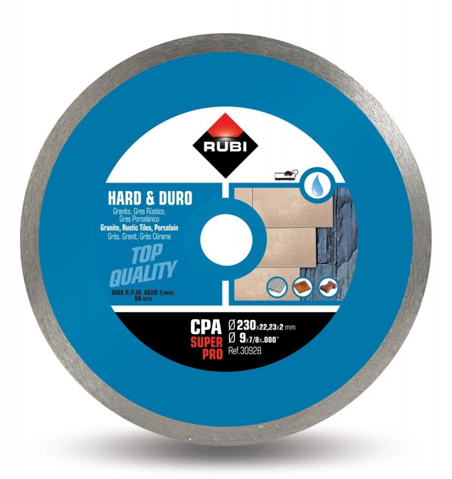 Disc diamantat pt. materiale foarte dure 230mm, CPA 230 SuperPro - RUBI-30928 imagine criano.com