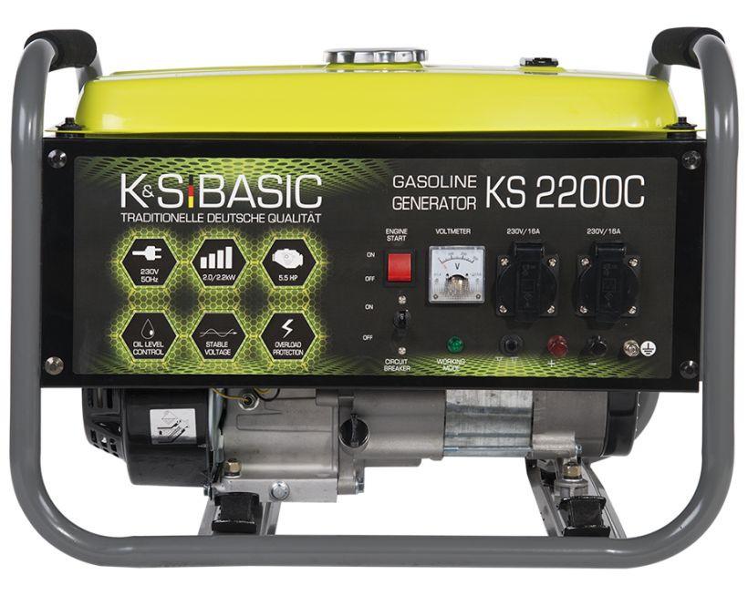 Generator de curent 2.2 kW benzina BASIC LINE - Konner & Sohnen - KSB-2200C( 511248)