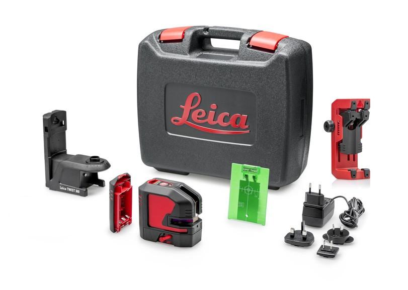 Nivela Laser Verde cu linii in cruce si punct, Lino L2P5G - Leica-864435( 513143)