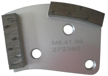 Placa cu segmenti diamantati pt. slefuire pardoseli - segment DPC dual - prindere M8 - DXDH.8508.41.99 imagine criano.com
