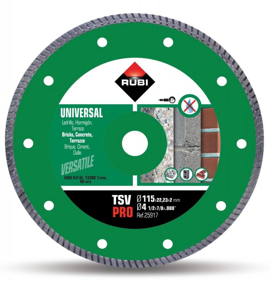 Disc diamantat pt. beton si caramida 115mm, TSV 115 Pro - RUBI-25917 imagine criano.com
