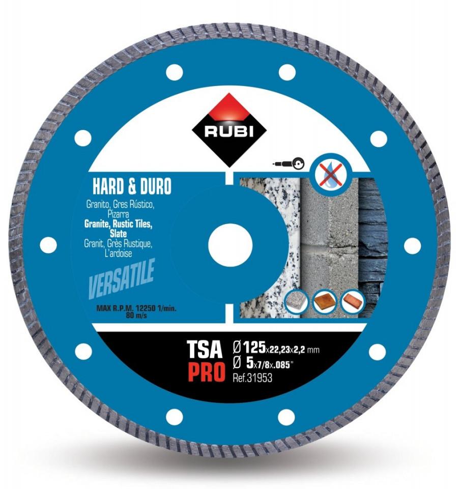 Disc diamantat pt. materiale foarte dure 125mm, TSA 125 Pro - RUBI-31953 imagine criano.com