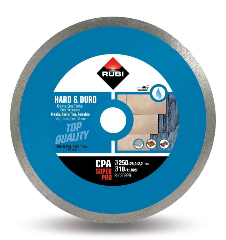 Disc diamantat pt. materiale foarte dure 250mm, CPA 250 SuperPro - RUBI-30929 imagine criano.com