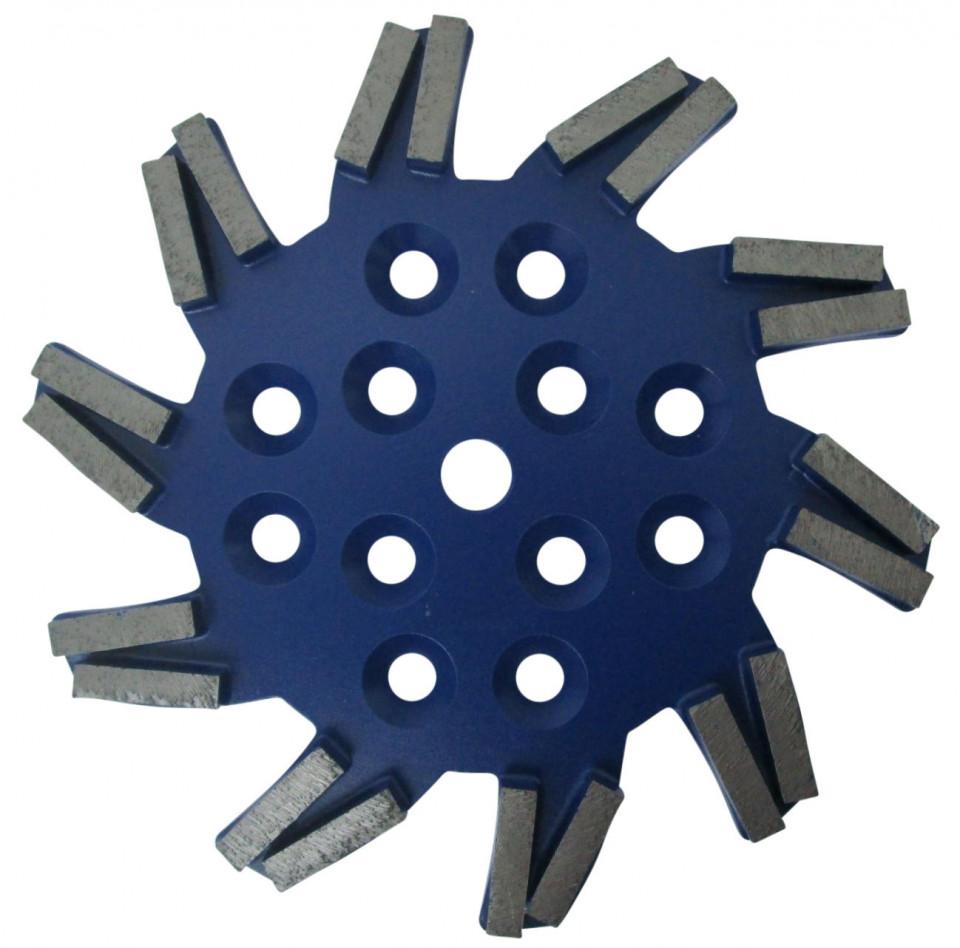 Disc stea cu segmenti diamantati pt. slefuire pardoseli - segment dur - Albastru - 250 mm - prindere 19mm - DXDH.8501.250.11.23 imagine criano.com