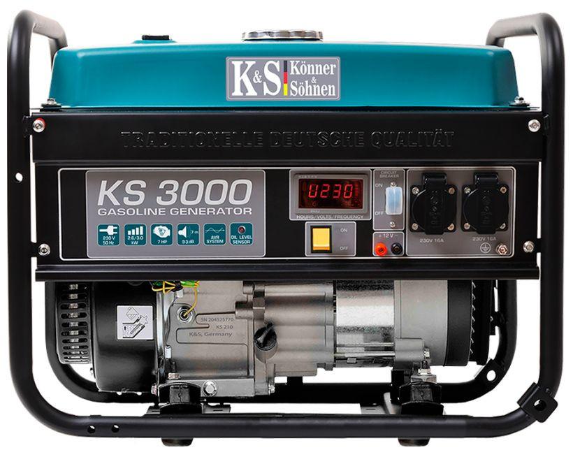 Generator de curent 3 kW benzina PRO - Konner & Sohnen - KS-3000 imagine criano.com