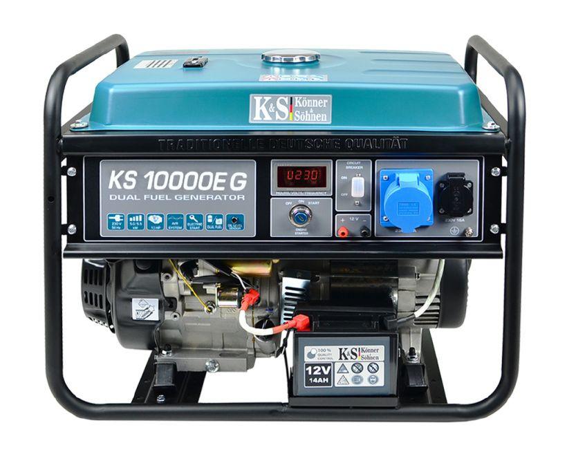 Generator de curent 8 kW HIBRID (GPL + Benzina) - Konner & Sohnen - KS-10000E-G