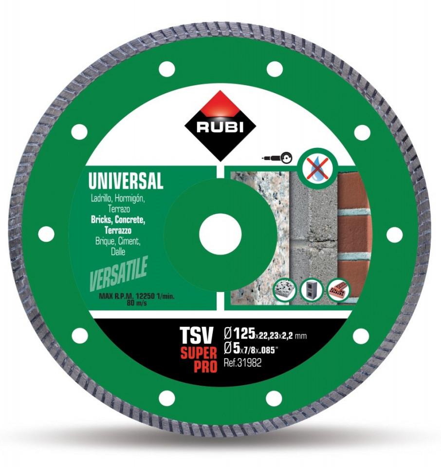 Disc diamantat pt. beton si caramida 125mm, TSV 125 Pro - RUBI-31980 imagine criano.com