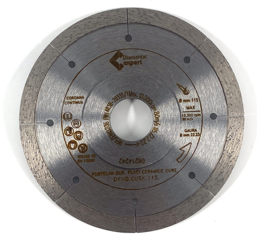 Disc DiamantatExpert pt. Taieri Extra Fine in Portelan Dur 115x22.2 (mm) Ultra Premium - DXWD.CUSK.115