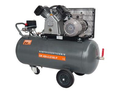 Compresor cu piston - Profesional 2,2kW , 420 L/min - Rezervor 100 Litri - WLT-PROG-420-2.2/100 imagine criano.com