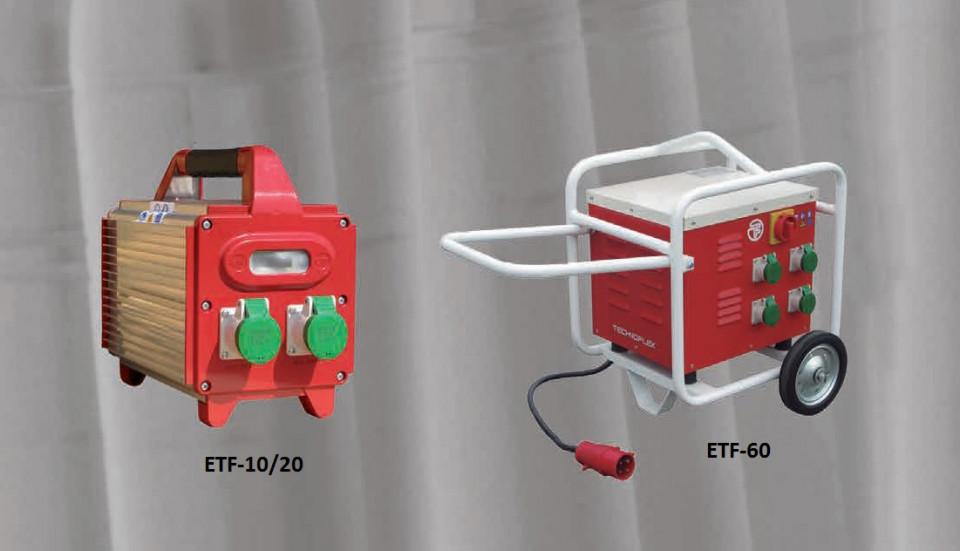 Convertizor electric de frecventa, ETF-20, 2 KVA, 2 iesiri 42 V/200 Hz (Monofazic 230 V/ 50-60 Hz) - Technoflex-141553R012 imagine criano.com