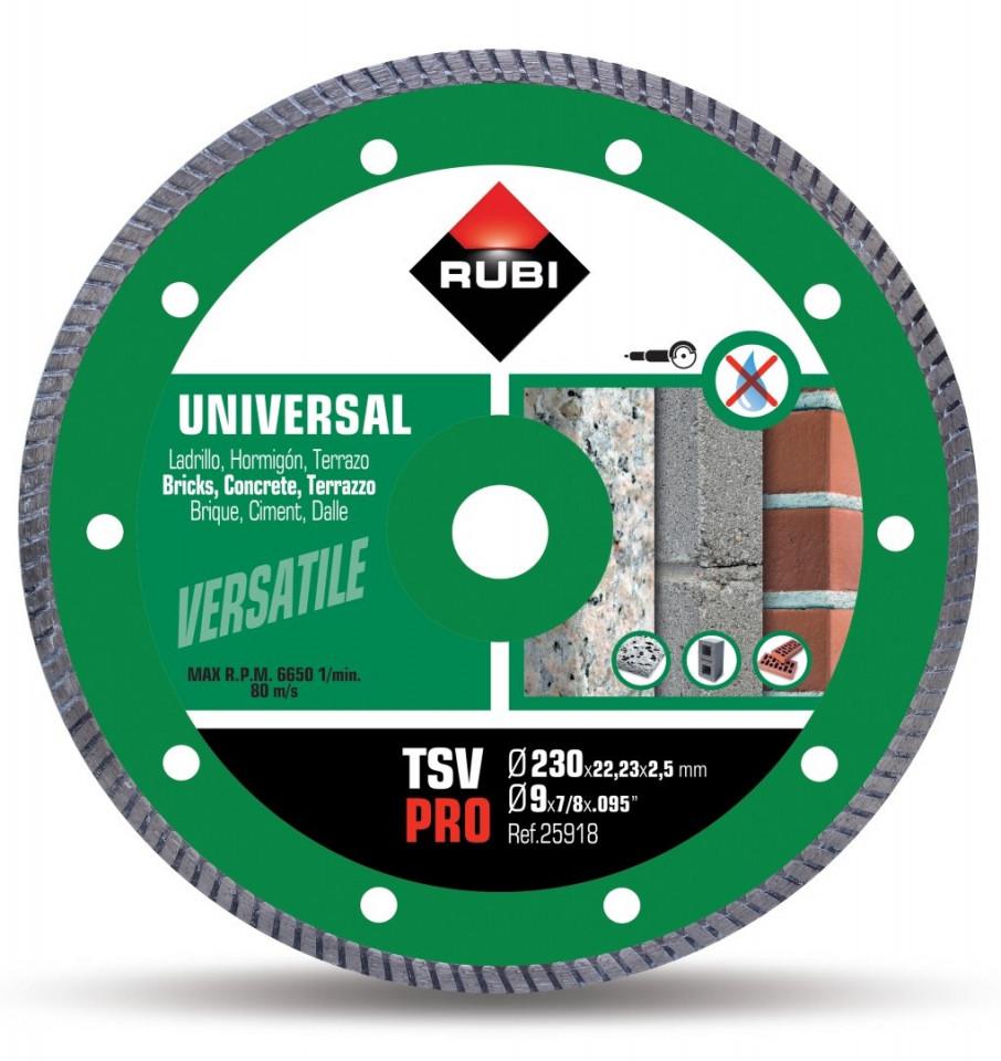 Disc diamantat pt. beton si caramida 230mm, TSV 230 Pro - RUBI-25918 imagine criano.com