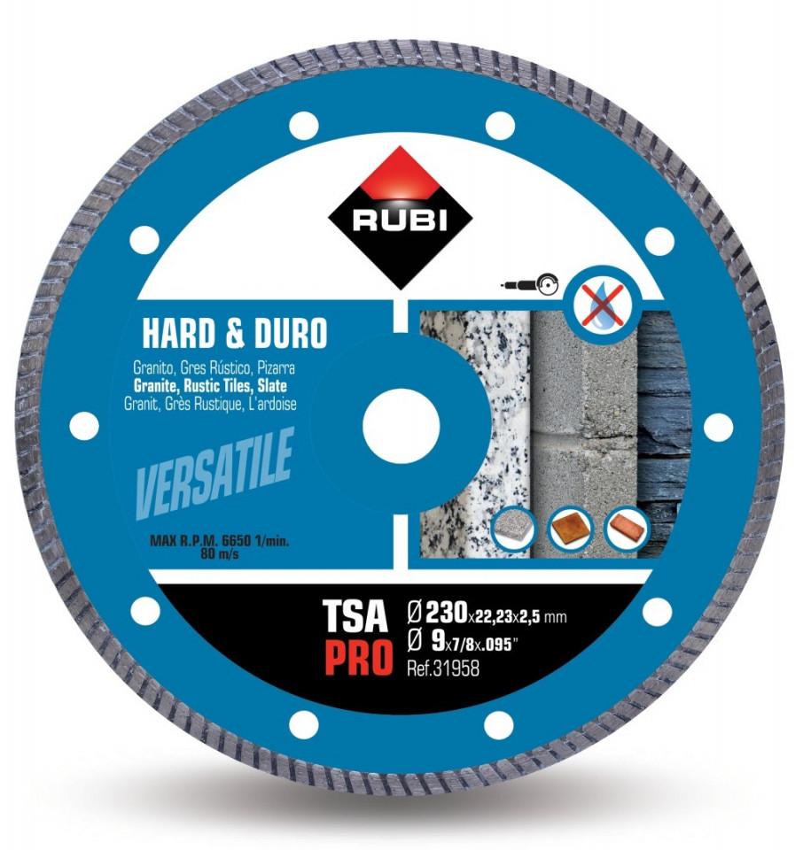 Disc diamantat pt. materiale foarte dure 230mm, TSA 230 Pro - RUBI-31958 imagine criano.com