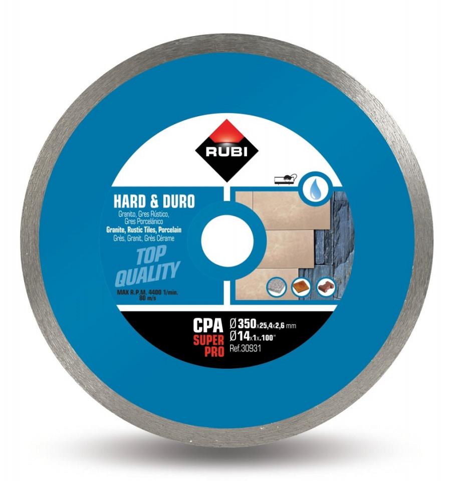 Disc diamantat pt. materiale foarte dure 350mm, CPA 350 SuperPro - RUBI-30931 imagine criano.com