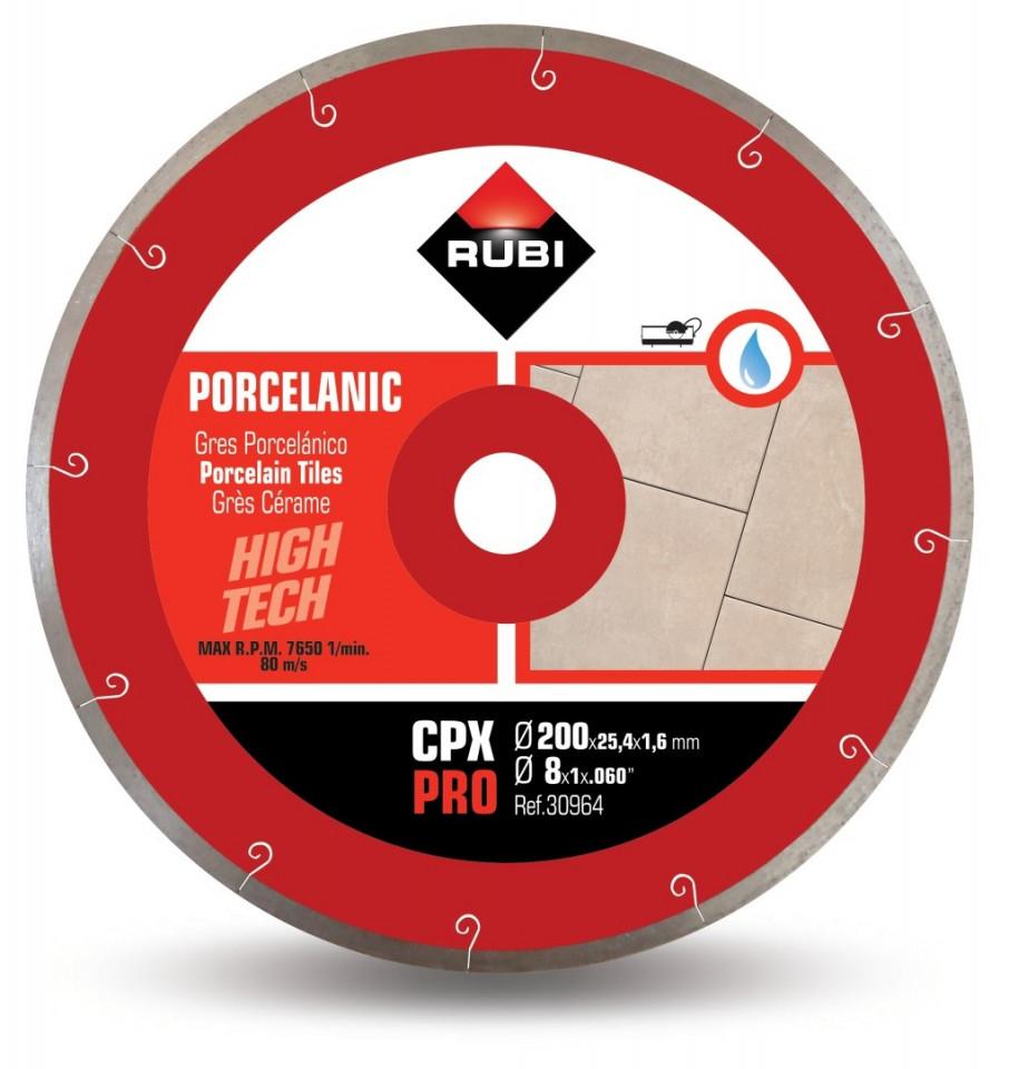 Disc diamantat pt. gresie portelanata 200mm, CPX 200 Pro - RUBI-30964 imagine criano.com