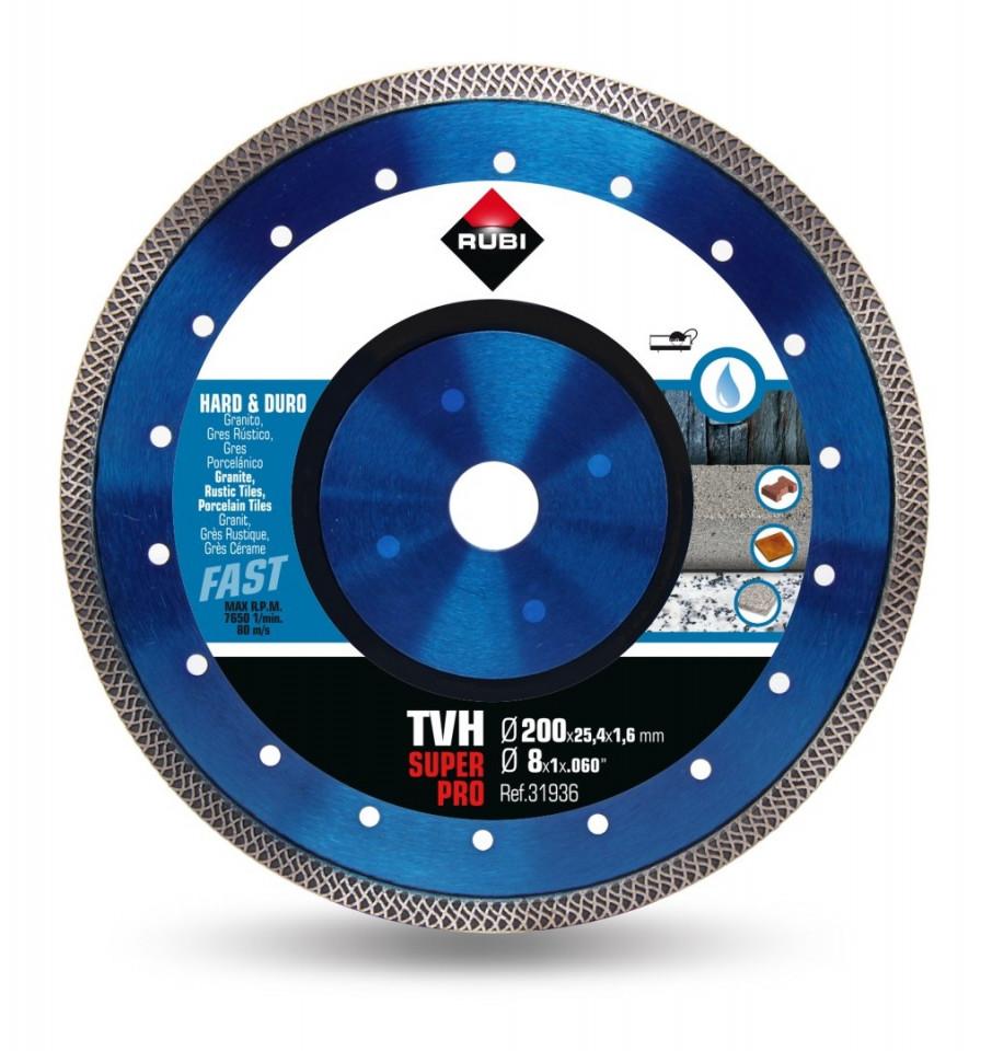 Disc diamantat pt. materiale foarte dure 200mm, TVH 200 SuperPro - RUBI-31936 imagine criano.com