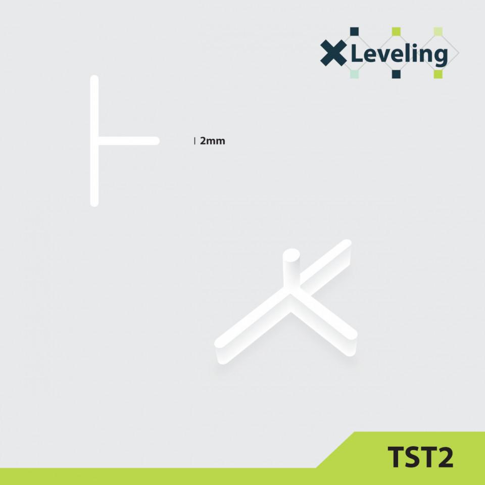 Distantieri tip T ( Teuri ) pt. placi - gresie si faianta - Rost 2 mm - 500 buc - XLEV-TST2-500( 512932)