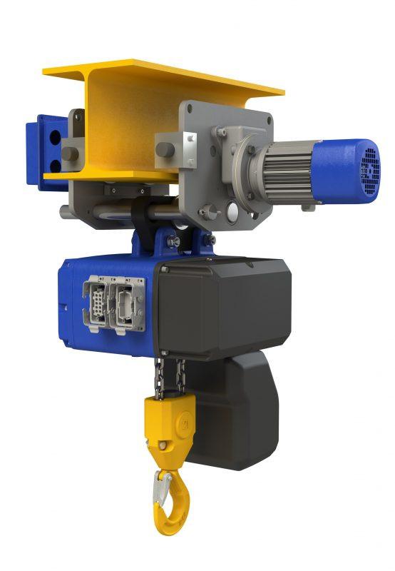 Electropalan 2 CLF, 2000kg, 9 metri (viteza 1-4 m/min) - Podem (Tip Prindere: carabina metalica - punct fix)
