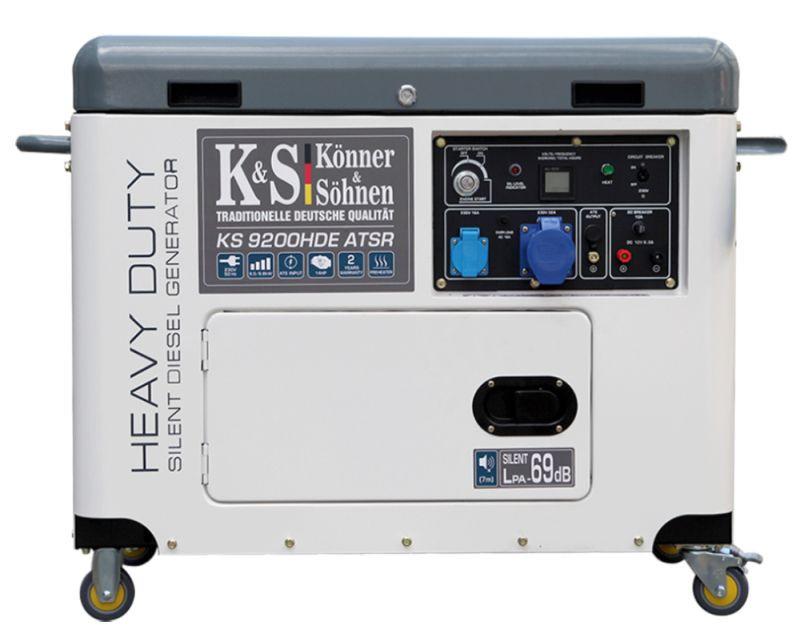 Generator de curent 6.8 kW diesel - Heavy Duty - insonorizat - Konner & Sohnen - KS-9200HDE-ATSR-Silent imagine criano.com