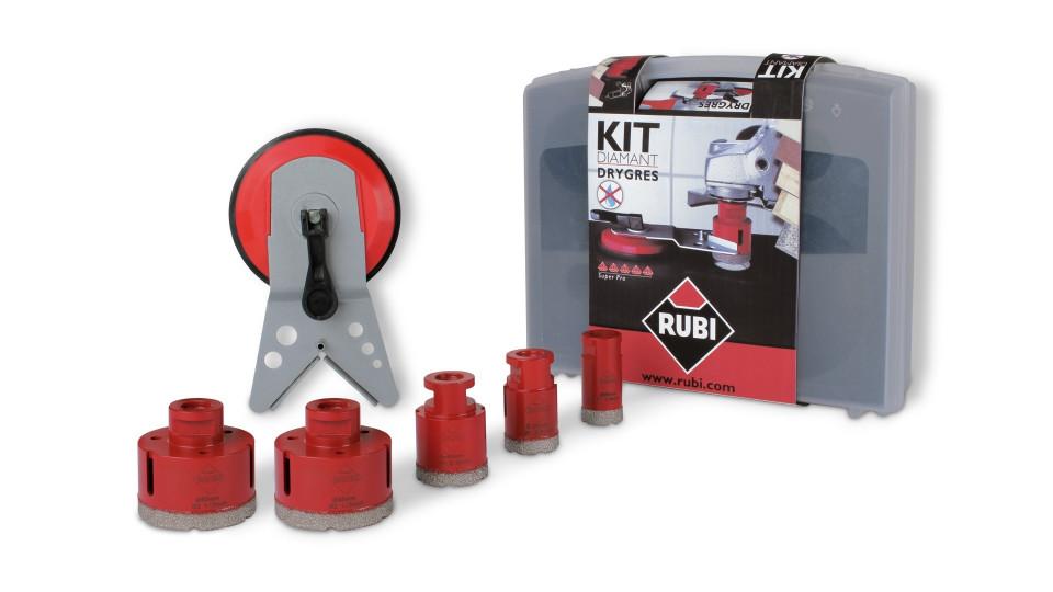 Kit carote diamantate DryGres 28, 35, 43, 50, 68mm, 5 buc. - RUBI-50936 imagine criano.com