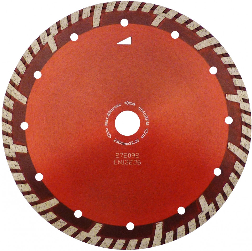 Disc DiamantatExpert pt. Beton armat & Granit - Turbo GS 300mm Super Premium - DXDH.2287.300 (Ø interior disc: 25,4mm) imagine criano.com