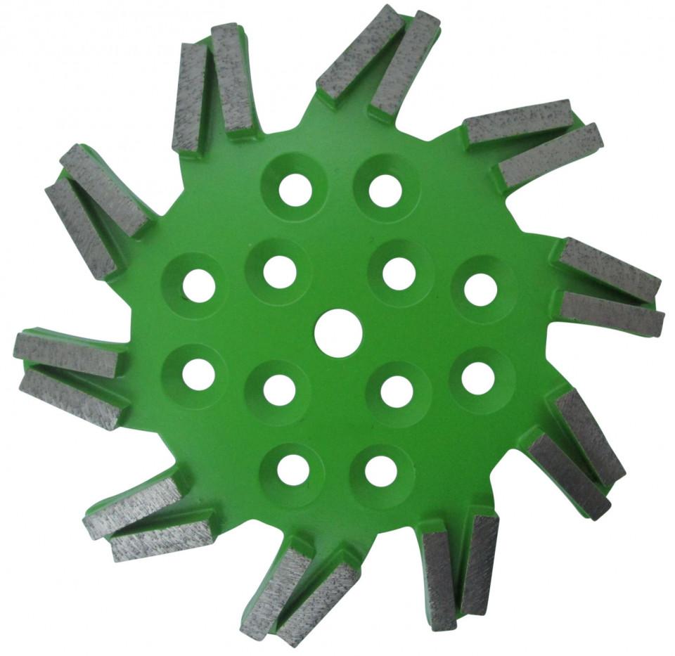 Disc stea cu segmenti diamantati pt. slefuire pardoseli - segment mediu - Verde - 250 mm - prindere 19mm - DXDH.8501.250.11.43 imagine criano.com
