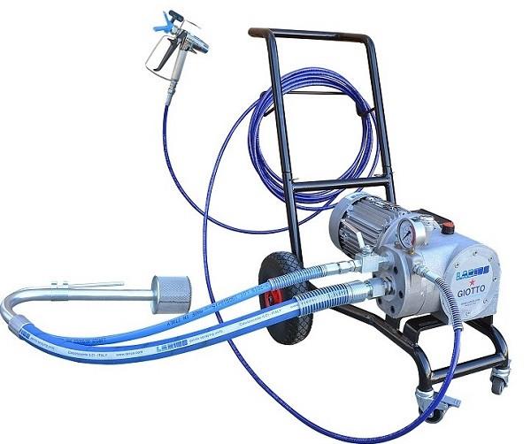 Pompa de vopsit / zugravit AIRLESS Industriala cu Carucior - Complet Echipata - 8L/min - Larius Giotto imagine criano.com