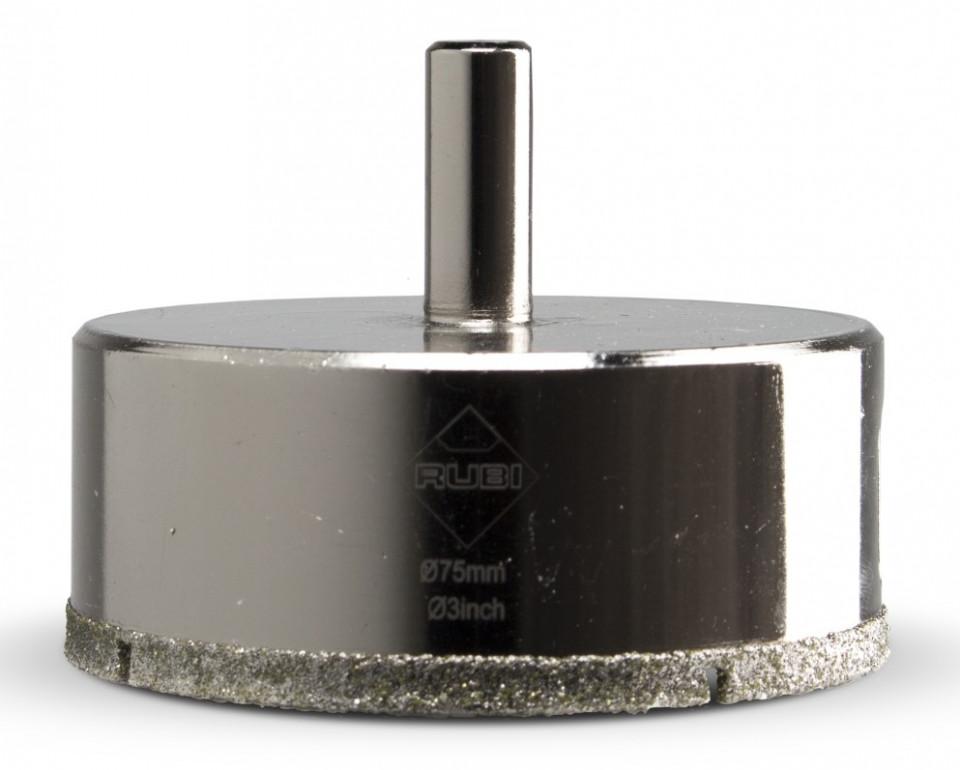 Carota diamantata pt. portelan, placi ceramice EasyGres 75mm - RUBI-5979 title=Carota diamantata pt. portelan, placi ceramice EasyGres 75mm - RUBI-5979