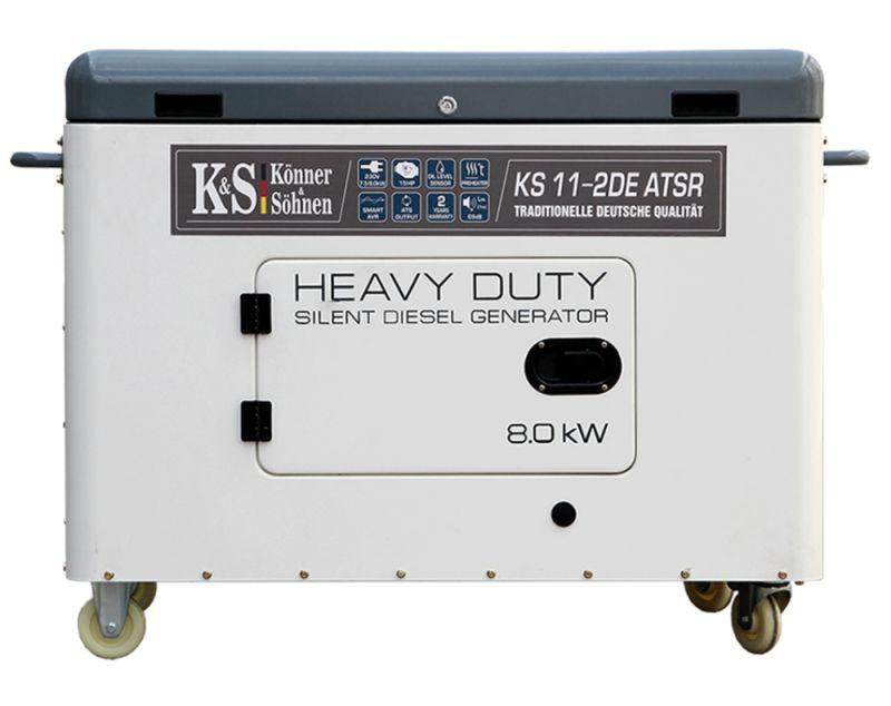 Generator de curent 8 kW diesel - Heavy Duty - insonorizat - Konner & Sohnen - KS-11-2DE-ATSR-Silent imagine criano.com