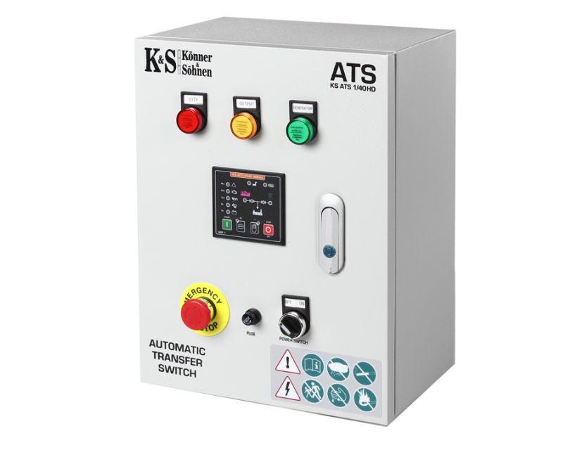 Panou de automatizare pt. Generatoarele Konner & Sohnen seria Heavy Duty 230/380 V - KS-ATS-4/63-HD( 511273)