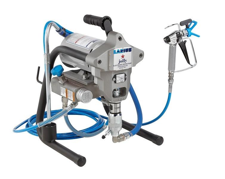 Pompa de vopsit / zugravit AIRLESS Industriala cu Cadru - Complet Echipata - 1,9L/min - Larius Jolly imagine criano.com