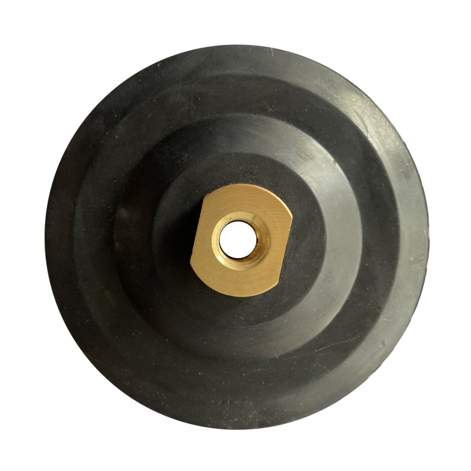 Suport flexibil pt. dischete / paduri diamantate cu velcro Ø125mm - prindere M14 -DXDY.PADSUP.RUB.125( 511990)